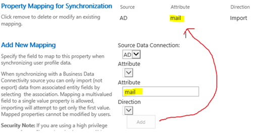 SharePoint 2016: AD Import Profile Property Mappings aka: my
