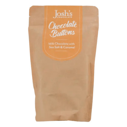 salted caramel chocolate buttons Josh's Chocolate