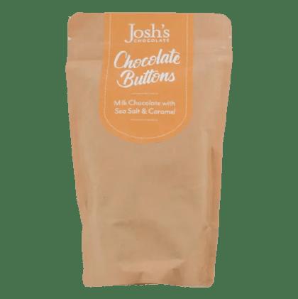 salted caramel chocolate buttons Josh's Chocolate