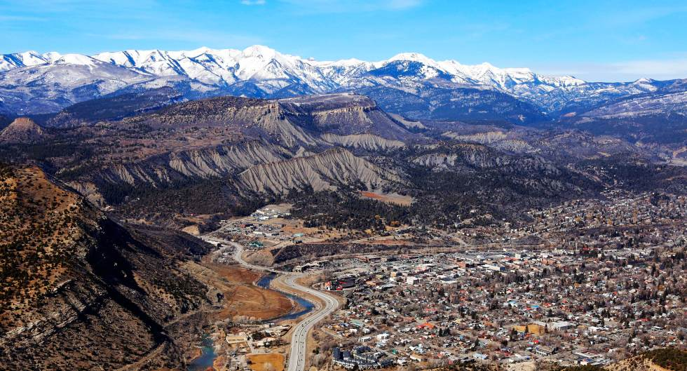 Aerial photography of Durango, Colorado © Josh Stephenson