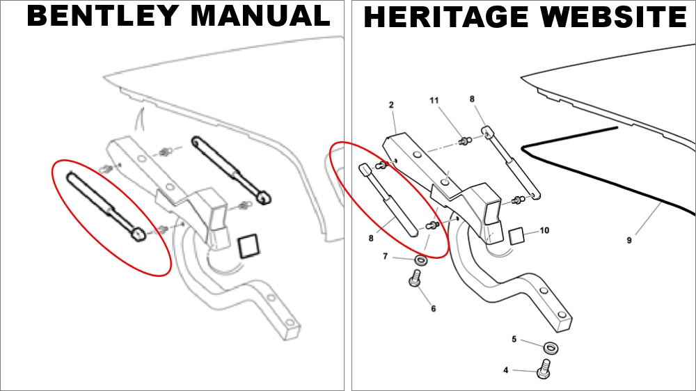 How To Replace Trunk Struts on a Bentley Arnage