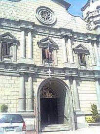 The church's facade.