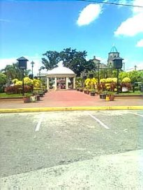 The view of the Plaza with the church.