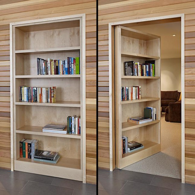 hidden door bookcase design