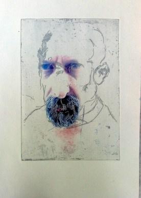 Self Portrait with InkJet Digital imagery 2014