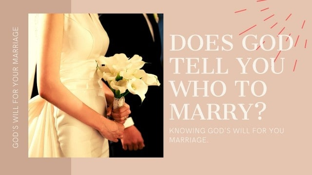 does God tell you who to marry