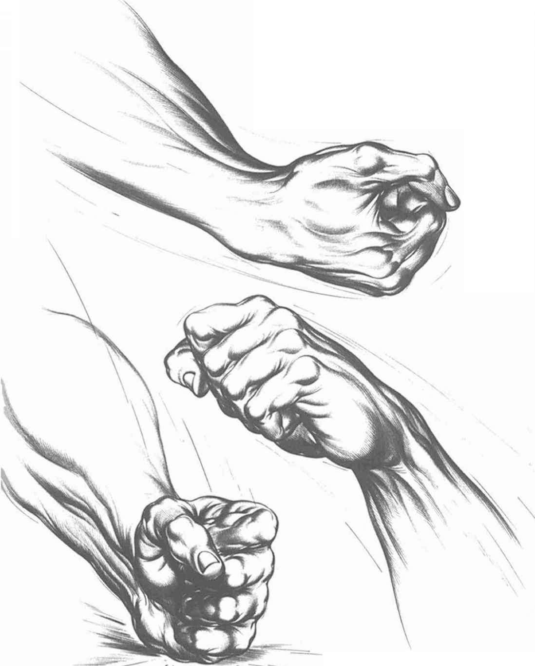 How To Draw Clenched Fist : clenched, Clenched, Drawing, Hands, Joshua