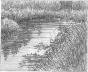 pencil nature drawing lakes simple anime beginners sketches easy step joshua nava arts helpful joshuanava biz