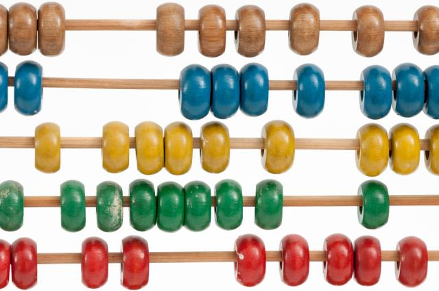 multiple colored beads on a wire counter