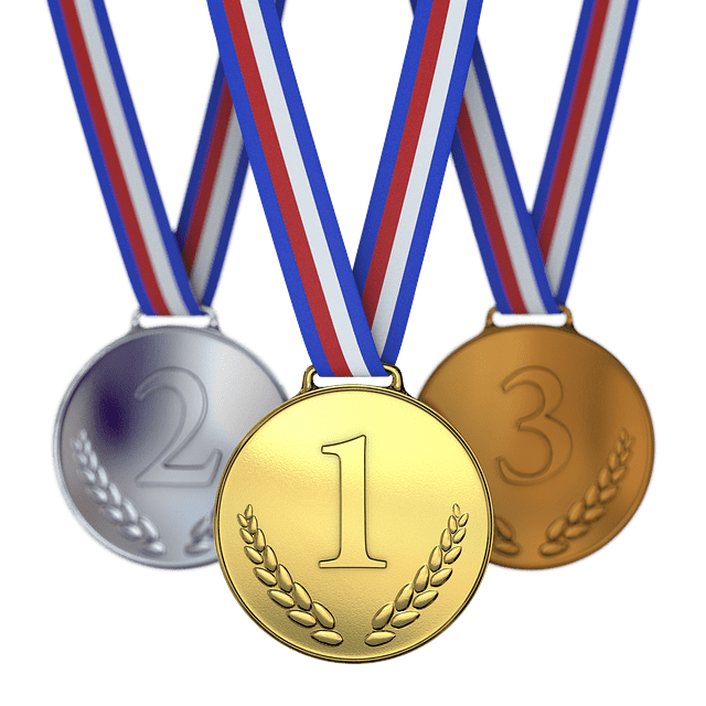 colorful image of 3 Olympic-type medal