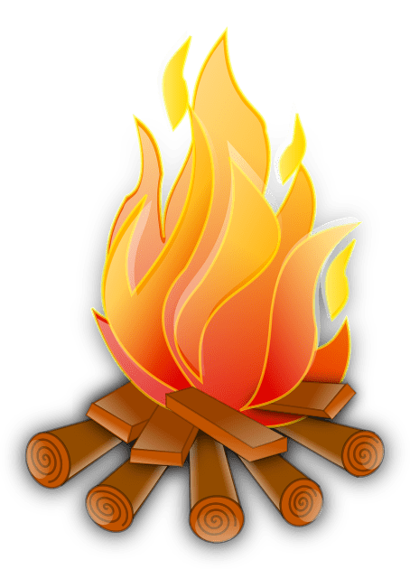svg vector image of campfire logs burning
