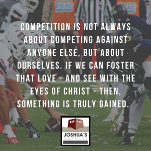 What place does competition have in the life of a Christian?