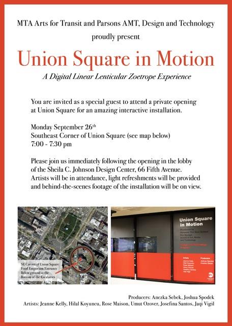 Union Square in Motion Invitation