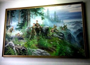 War Painting in Library