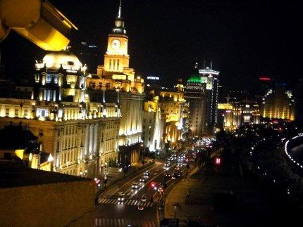 Shanghai's Bund at night