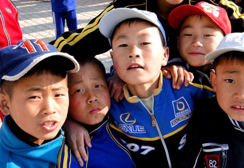 Kids in Hamhung, North Korea