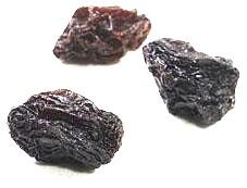 Three raisins