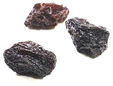 Three raisins
