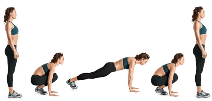 Easier burpees
