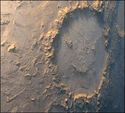 Mars Smiley Face