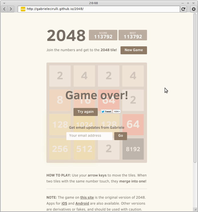2048: 113792 points