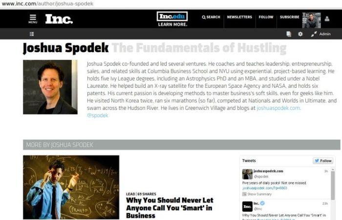Joshua Spodek Inc Magazine