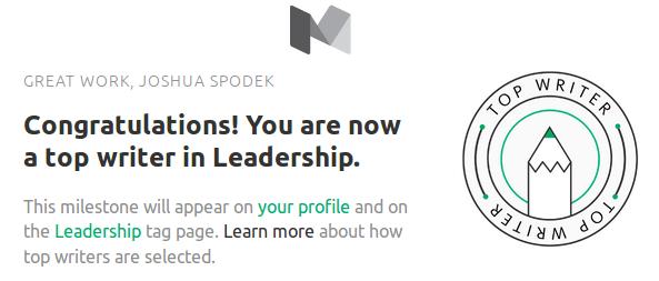 Joshua Spodek Top Writer Leadership