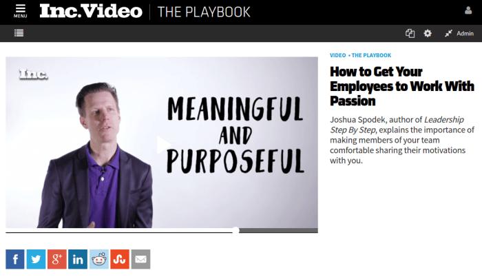 Inc Playbook Work With Passion Joshua Spodek