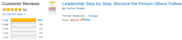 Leadership Step by Step 51 Reviews