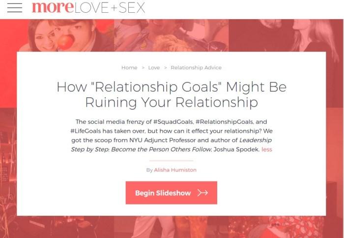 more.com joshua spodek relationships