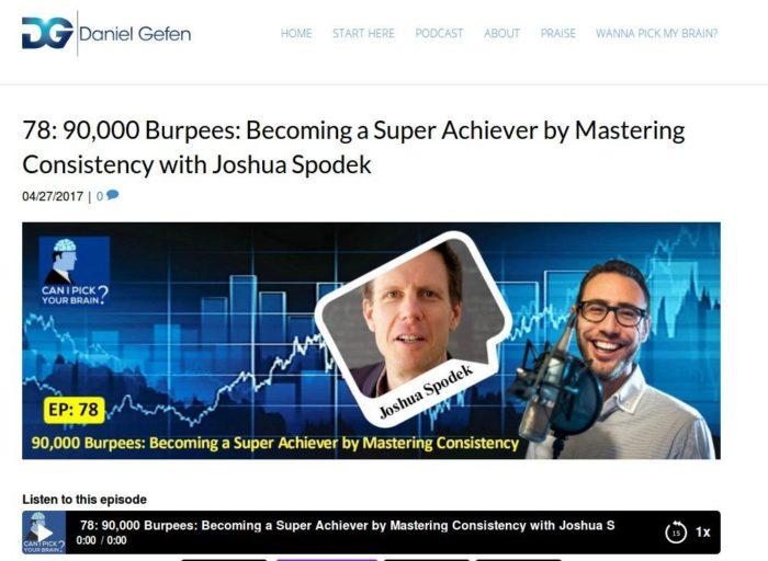 Daniel Gefen's Can I Pick Your Brain interview of Joshua Spodek