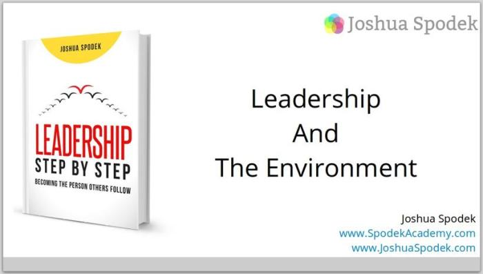 Leadership And The Environment Title Slide