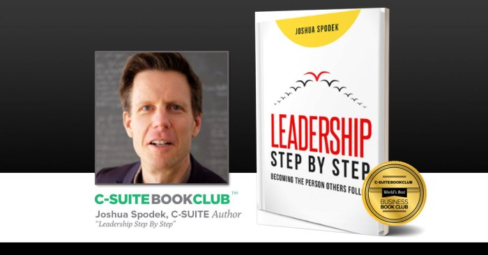 The C-Suite Book Club featuring Leadership Step by Step