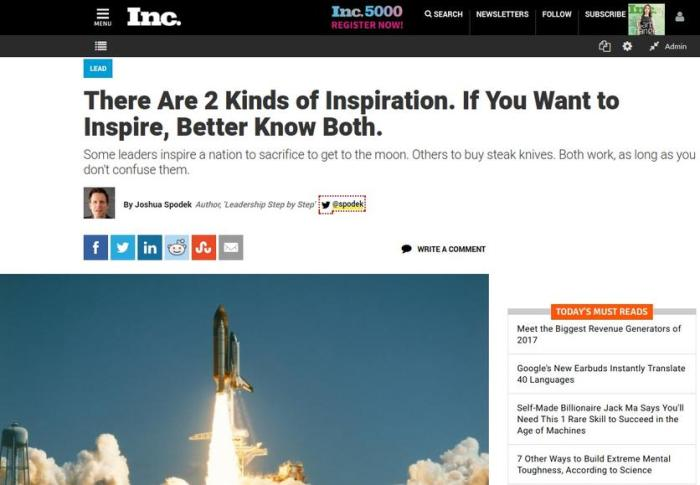 There are two kinds of inspiration
