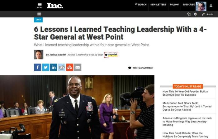 6 Lessons I Learned Teaching Leadership With a 4-Star General at West Point