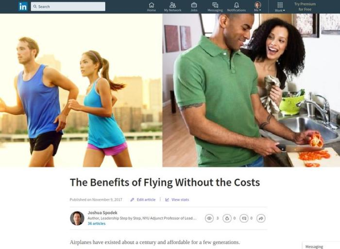 The benefits of flying without the costs