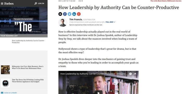 Forbes video on Joshua Spodek by Tim Frances
