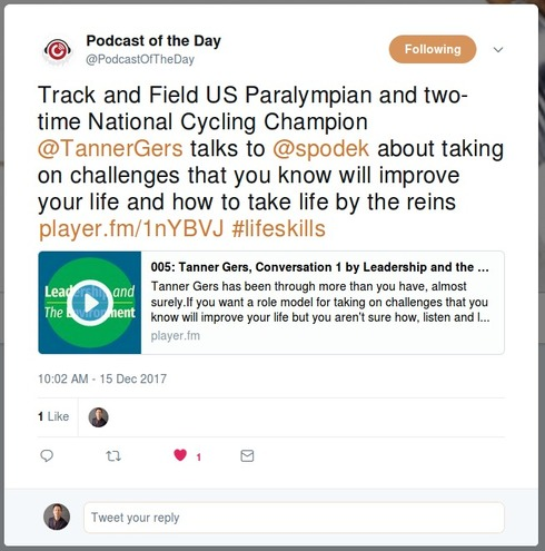 Leadership and the Environment is Podcast of the Day today