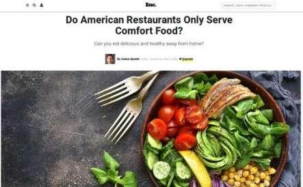 Do American Restaurants Only Serve Comfort Food?