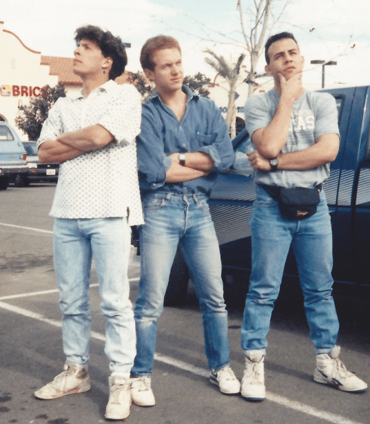 Reebok high tops, rolled jeans, fanny pack- Yep is 1989.