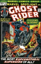"""COMIC BOOK / MARVEL COMICS: Ghost Rider was introduced in 1972's """"Marvel Spotlight"""" No. 5"""
