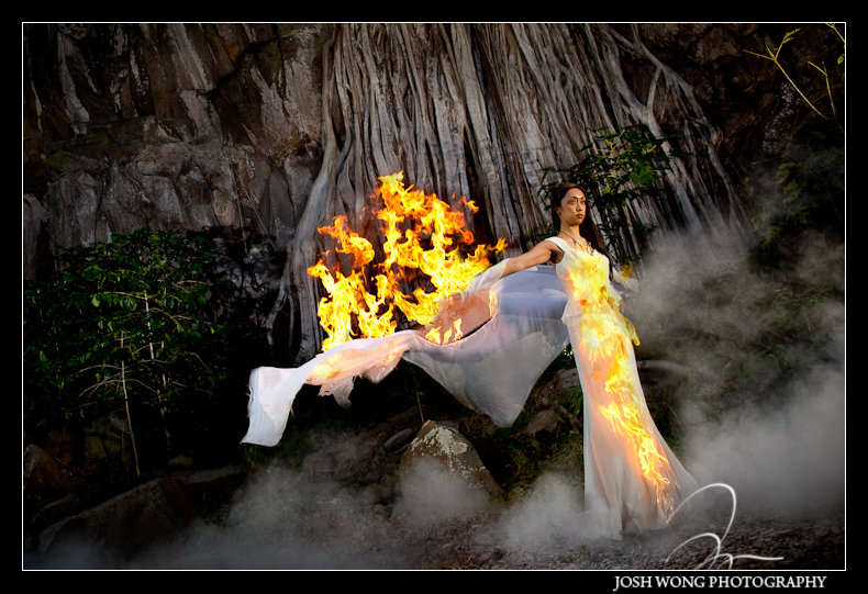 The day after trash the dress photoshoot. Fern Grotto in Maui Hawaii Destination Wedding, Maui Hawaii - Wedding Pictures by Destination Wedding Photographer Josh Wong Photography
