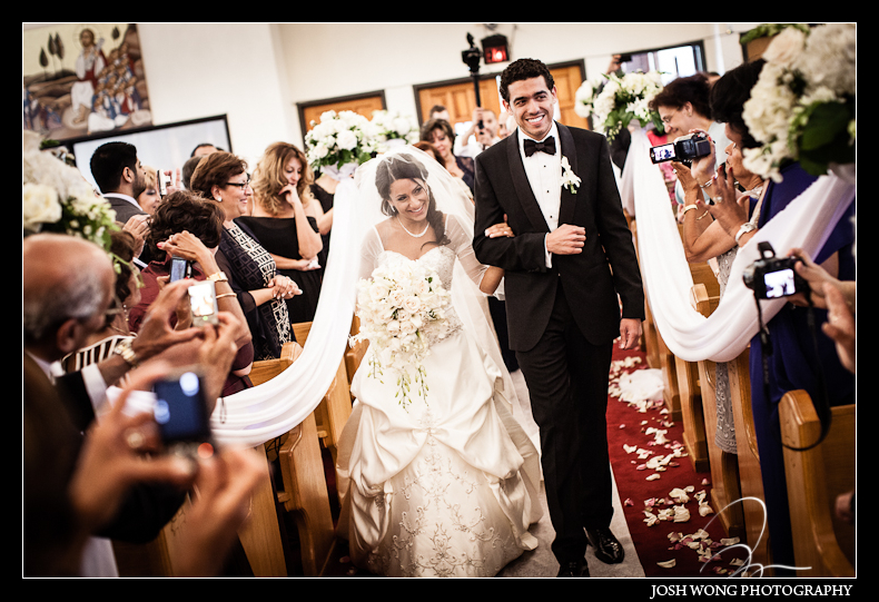 The wedding recessional at St. Abraams Egyptian Coptic Church.