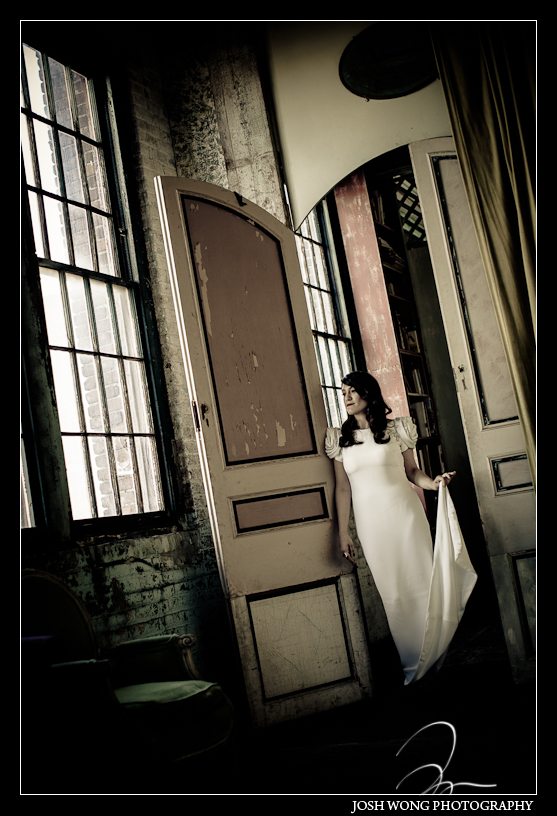 The bride featured in a Marchesa Wedding dress.