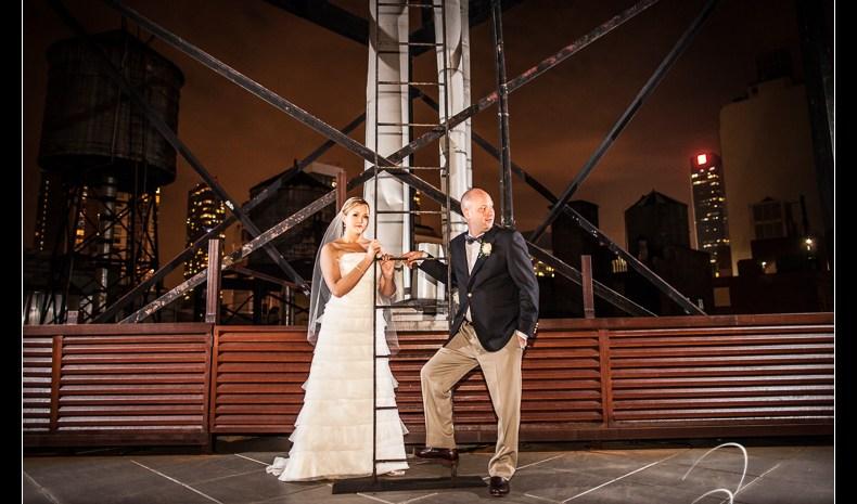 Wedding at Gary's Loft and a special Bath Tub Photobooth - New York City