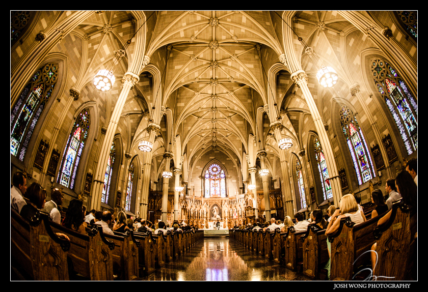 Old St. Patrick's Cathedral before the ceremony. Wedding pictures provided by Josh Wong Photography