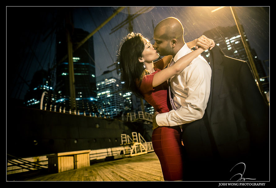 Engagement Shoot in Battery Park and South Street Seaport