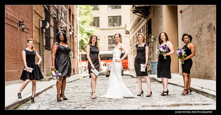 Wedding Bridal pictures in Tribeca New York