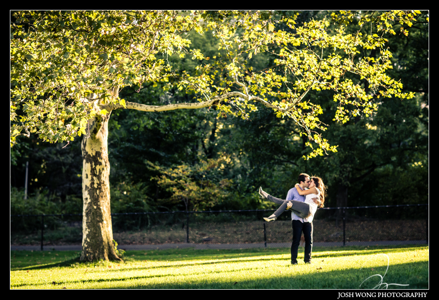 Chic Engagement Pictures around New York City Central Park photos provided by Josh Wong Photography