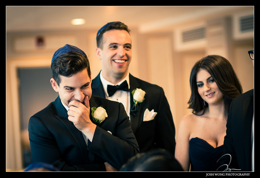 Candid shot at Glen Island Harbor Club Wedding New York. Pictures by NYC Wedding Photographer Josh Wong Photography